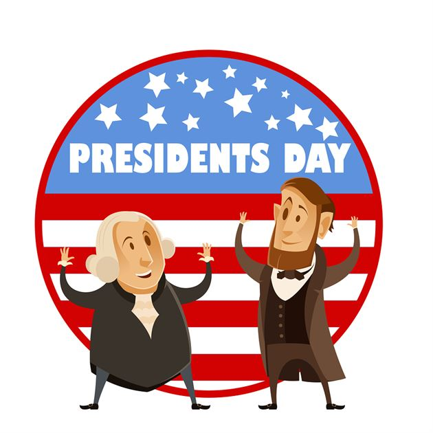 Vector image of the Presidents day banner
