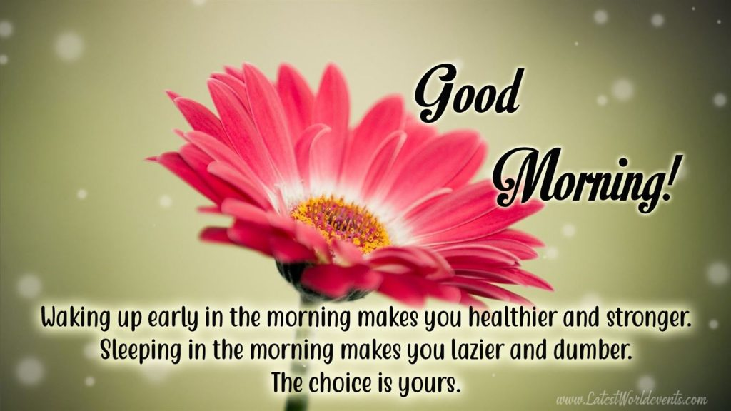 Happy Good Morning Message